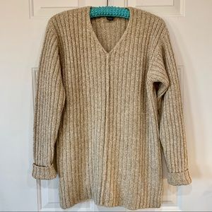 Vintage 90s Limited Tan Tunic Sweater Oversized S
